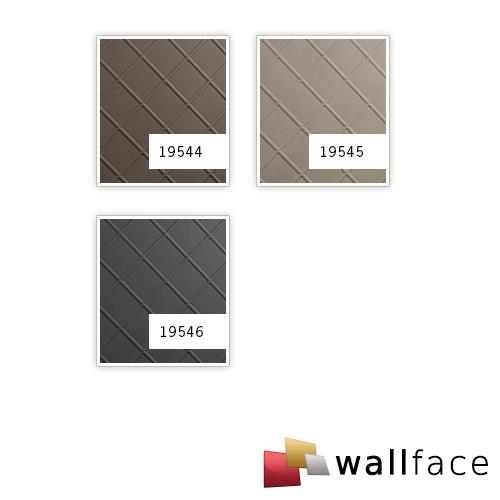 Decoratif paneel leer look WallFace 19544 CORD Dove Tale Wandbekleding gestempeld nappaleer look mat zelfklevend slijtvast bruin 2,6 m2 – Bild 2