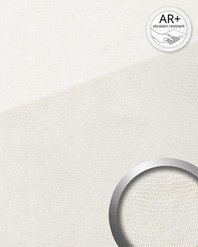 Dekorpaneel Leder Optik WallFace 19305 LEGUAN Bianco Wandverkleidung glatt in Glas Optik glänzend selbstklebend abriebfest weiß 2,6 m2 – Bild 2