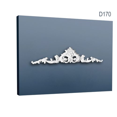 Pediment Türaufsatz Stuck Orac Decor D170 LUXXUS Zierelement Stuckprofil Stuckgesims stilvolles Tür Element weiß 105 cm – Bild 1