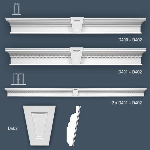 Deuromlijstingen Origineel Orac Decor D400 LUXXUS Fronton 127.5 cm – Bild 3