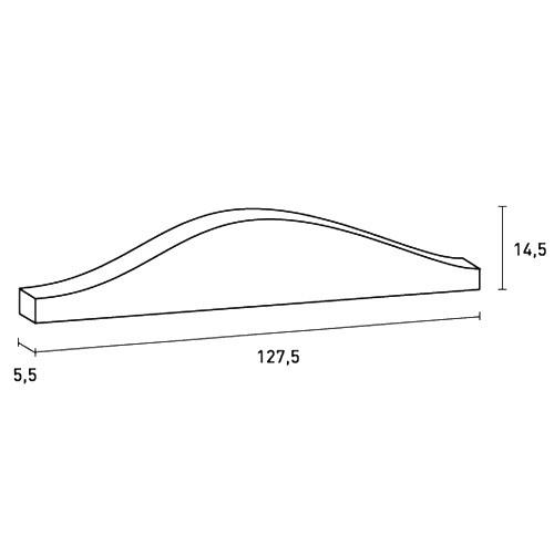 Pediment Türaufsatz Stuck Orac Decor D401 LUXXUS Zierelement Stuckprofil Stuckgesims klassisches Dekor weiß | 127 cm – Bild 2