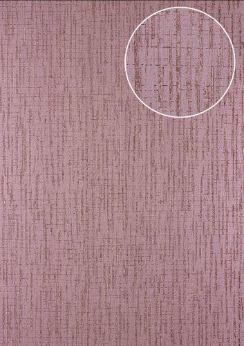 Grafik Tapete Atlas 24C-5057-4 Vliestapete strukturiert mit abstraktem Muster und Metallic Effekt lila violett kupfer 7,035 m2 – Bild 1