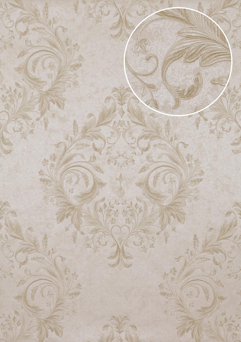 papier peint baroque atlas att 5083 2 papier peint intiss gaufr avec des ornements floraux. Black Bedroom Furniture Sets. Home Design Ideas