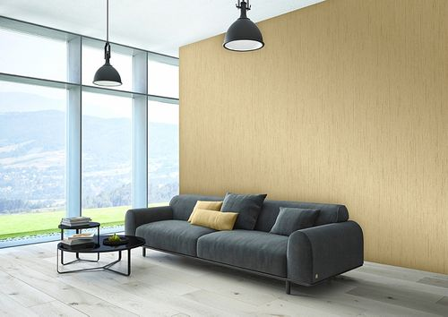 Tone on tone wallpaper wall Atlas COL-526-3 non-woven wallcovering smooth with abstract pattern matt beige ivory 5.33 m2 (57 ft2) – Bild 4