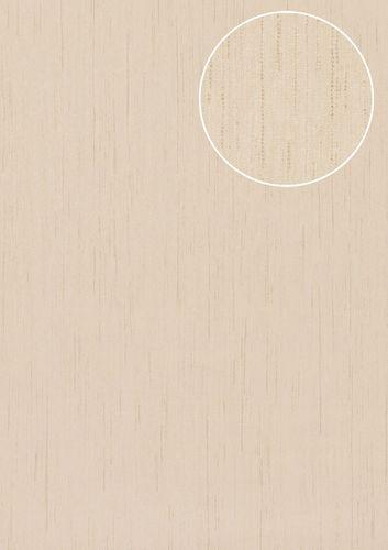 Hochwertige Ton-in-Ton Tapete Atlas COL-526-4 Vliestapete glatt mit abstraktem Muster matt weiß creme-weiß 5,33 m2 – Bild 1