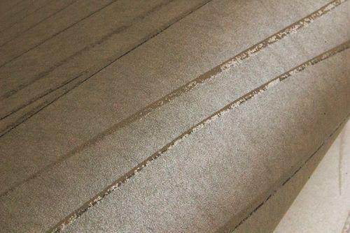 Papel pintado con rayas Atlas COL-566-6 papel pintado no tejido liso de diseño efecto satinado gris gris-piedra 5,33 m2 – Imagen 3