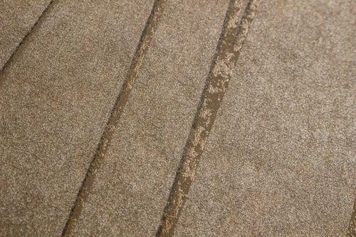 Streifen Tapete Atlas COL-567-1 Vliestapete glatt Design schimmernd braun khaki-grau gold 5,33 m2 – Bild 3