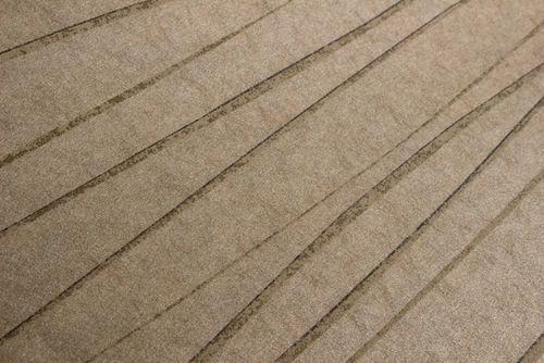 Streifen Tapete Atlas COL-567-1 Vliestapete glatt Design schimmernd braun khaki-grau gold 5,33 m2 – Bild 2