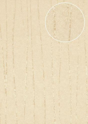 Papel pintado con rayas Atlas COL-567-4 papel pintado no tejido liso de diseño efecto satinado blanco blanco-crema blanco grisáceo 5,33 m2 – Imagen 1
