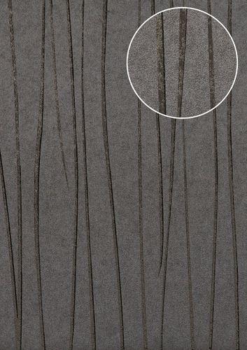 Edle Streifen Tapete Atlas COL-568-1 Vliestapete glatt Design schimmernd grau platin-grau anthrazit-grau 5,33 m2 – Bild 1