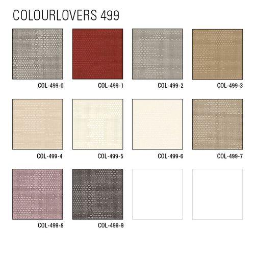 Papier peint unicolore Atlas COL-499-1 papier peint intissé texturé avec une texture tangible mat rouge rouge-pourpre violet rouge 5,33 m2 – Bild 4