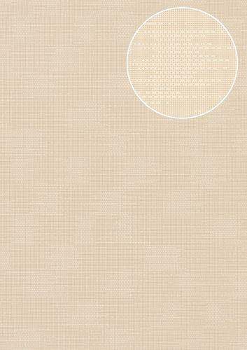 Uni Tapete Atlas COL-499-4 Vliestapete strukturiert mit Struktur matt creme perl-weiß hell-elfenbein 5,33 m2 – Bild 1