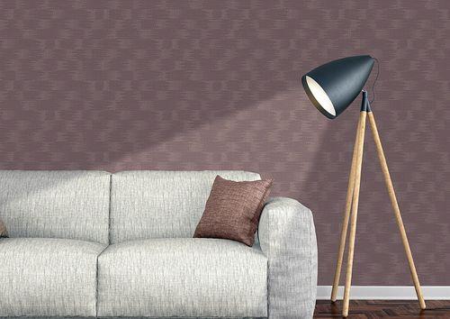 Papel pintado liso Atlas COL-499-8 papel pintado no tejido texturado con textura perceptible efecto satinado lila violeta-pastel 5,33 m2 – Imagen 4