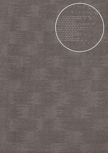 Uni Tapete Atlas COL-499-9 Vliestapete strukturiert mit Struktur schimmernd braun braun-grau 5,33 m2 – Bild 1