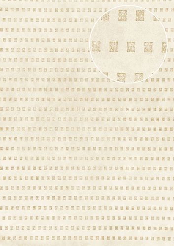Graphic wallpaper wall Atlas ICO-5071-3 non-woven wallcovering smooth with abstract pattern shimmering cream gray-beige gold 7.035 m2 (75 ft2) – Bild 1