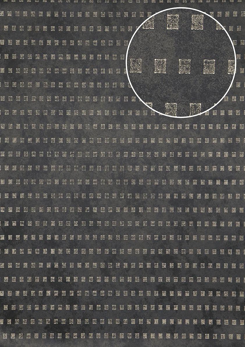 Grafik tapete atlas ico 5071 5 vliestapete glatt mit for Tapete grau mit muster