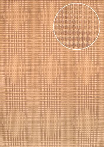 Graphic wallpaper wall Atlas ICO-5074-4 non-woven wallcovering smooth with geometric shapes and metallic highlights beige gold sepia-brown 7.035 m2 (75 ft2) – Bild 1