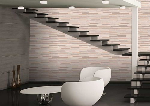 Stone tile wallpaper wall Atlas ICO-5076-4 non-woven wallcovering smooth stone look shimmering gray pale-brown white bronze 7.035 m2 (75 ft2) – Bild 5