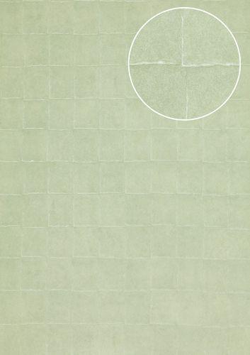 Steen tegal behang Atlas INS-5080-6 structuur behang gestempeld met geometrische vormen glanzend turkoois mintturquoise pastelturquoise 7,035 m2 – Bild 1