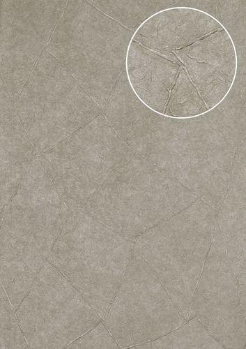 Pleister-look behang Atlas INS-5079-3 structuur behang gestempeld en metallic effect platina platinagrijs parelmoer-lichtgrijs blank aluminiumkleurig 7,035 m2 – Bild 1