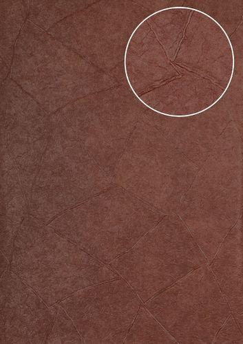 Papier peint aspect crépi Atlas INS-5079-5 papier peint texturé gaufré brillant pourpre violet-bordeaux aubergine rouge noir 7,035 m2 – Bild 1