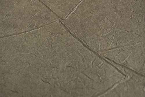Pleister-look behang Atlas INS-5079-6 structuur behang gestempeld en metallic effect olijf parelmoer-grijs grijsbeige 7,035 m2 – Bild 2