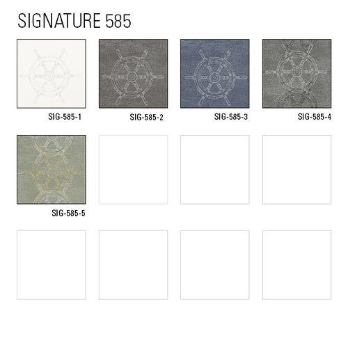 Grafik Tapete Atlas SIG-585-2 Vliestapete glatt im maritimen Design schimmernd grau staub-grau blau-grau silber-grau 5,33 m2 – Bild 5