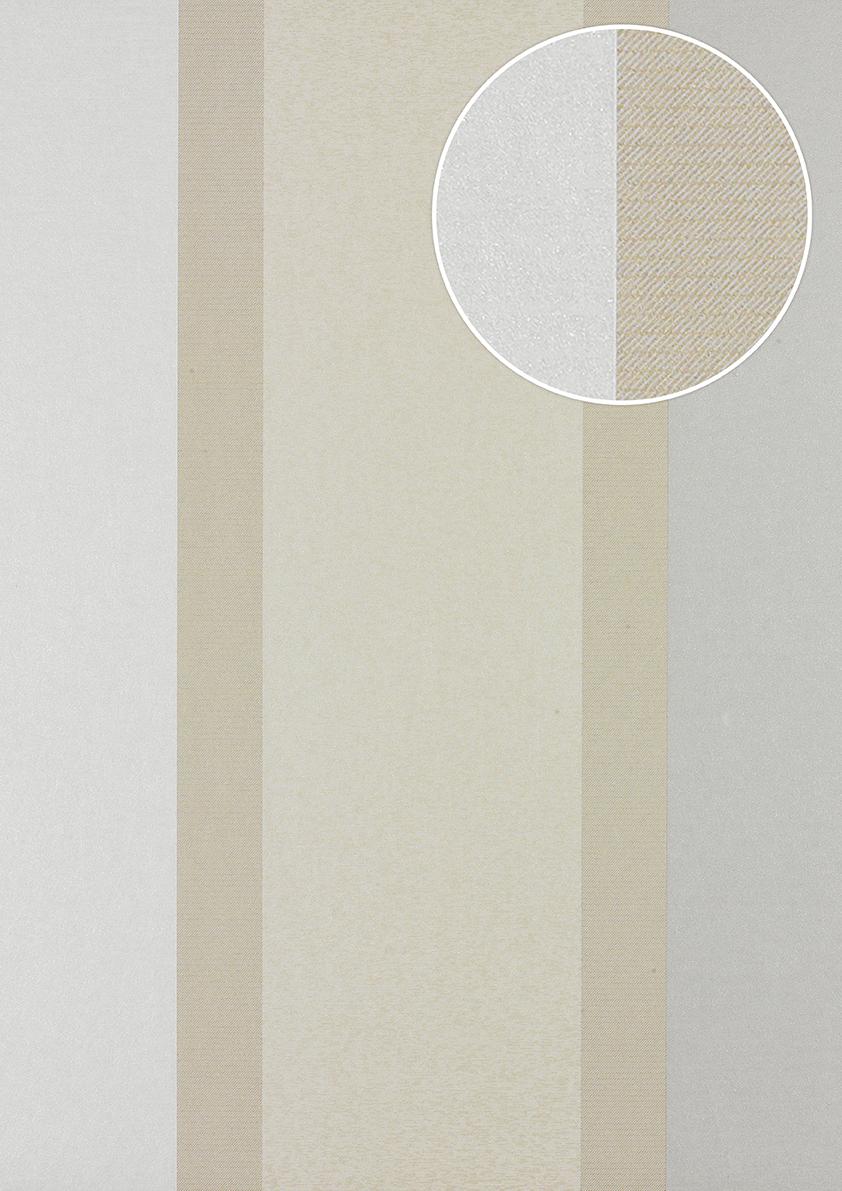 streifen tapete atlas pri 546 2 vliestapete glatt in. Black Bedroom Furniture Sets. Home Design Ideas