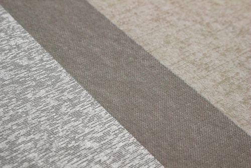 Streifen Tapete Atlas PRI-546-3 Vliestapete glatt in Textiloptik und Metallic Effekt creme perl-weiß silber weiß-aluminium 5,33 m2 – Bild 3