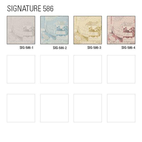 Grafik Tapete Atlas SIG-586-3 Vliestapete glatt im maritimen Design schimmernd elfenbein perl-weiß grau-beige gold 5,33 m2 – Bild 3