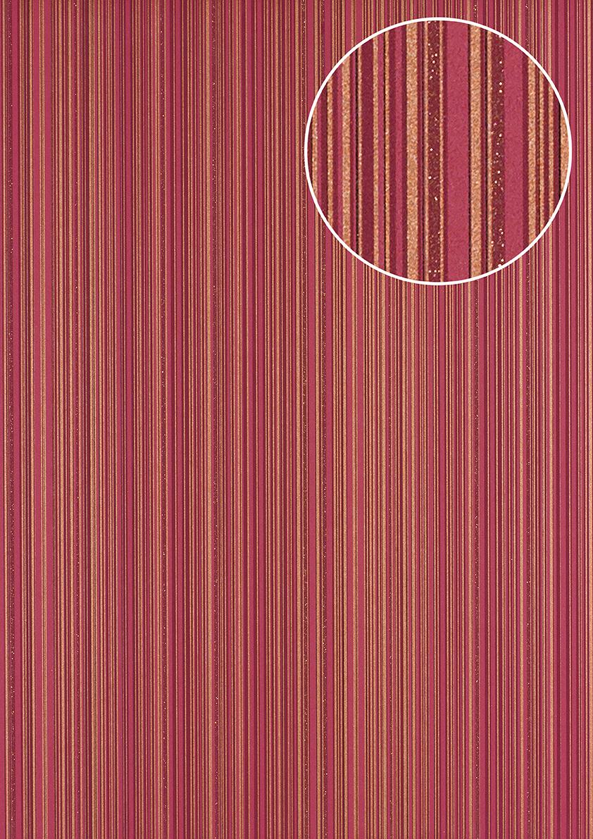streifen tapete atlas pri 5047 4 vliestapete glatt design. Black Bedroom Furniture Sets. Home Design Ideas
