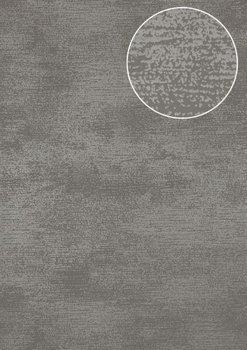 Tone on tone wallpaper wall Atlas SIG-587-4 non-woven wallcovering smooth with abstract pattern shimmering gray dusty-gray blue-gray 5.33 m2 (57 ft2) – Bild 1