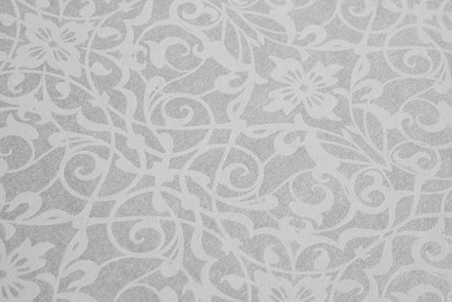 Baroque wallcovering wall Atlas PRI-498-8 non-woven wallcovering smooth with ornaments shiny silver oyster-white gray-white white-aluminium 5.33 m2 (57 ft2) – Bild 3