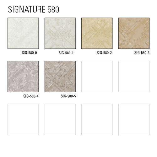 Grafik Tapete Atlas SIG-580-0 Vliestapete strukturiert mit abstraktem Muster schimmernd weiß rein-weiß perl-weiß 5,33 m2 – Bild 3