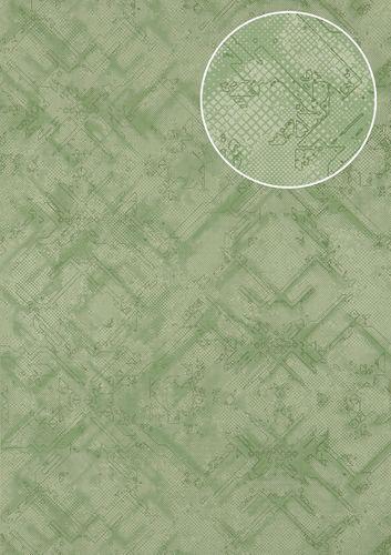 Carta da parati grafica Atlas SIG-581-0 Carta da parati TNT strutturata con pattern astratto scintillante verde verde-menta verde-chiaro 5,33 m2 – Bild 1