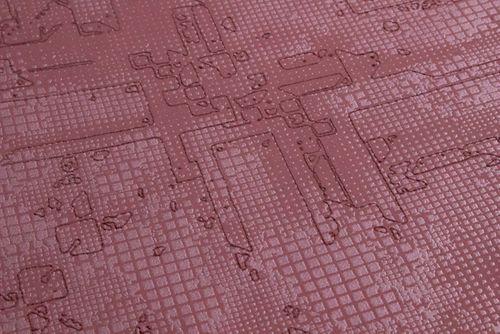 Carta da parati grafica Atlas SIG-581-2 Carta da parati TNT strutturata con pattern astratto scintillante rosso viola-rossastro rosso-rubino-perlato 5,33 m2 – Bild 4