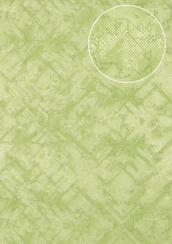 Grafik Tapete Atlas SIG-581-4 Vliestapete strukturiert mit abstraktem Muster schimmernd grün blass-grün farn-grün 5,33 m2 – Bild 1