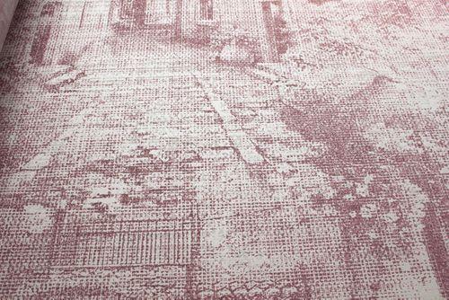 Grafik Tapete Atlas SIG-579-4 Vliestapete strukturiert im Used Look schimmernd rot rot-violett perl-weiß grau-weiß 5,33 m2 – Bild 3