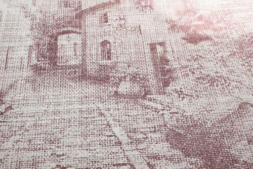 Papel pintado gráfico Atlas SIG-579-4 papel pintado no tejido texturado de estilo used look efecto satinado rojo rojo-violeta blanco perla blanco grisáceo 5,33 m2 – Imagen 2