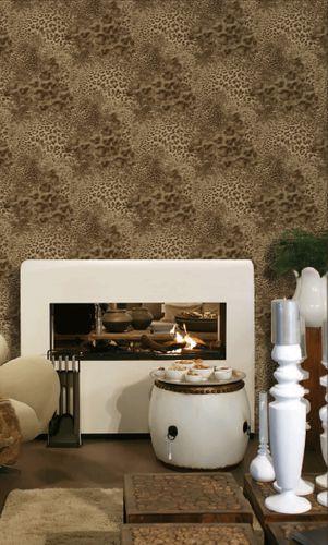 Tiermotiv Tapete Atlas SKI-5070-3 Vliestapete geprägt mit Leopardenmuster schimmernd braun beige-braun terra-braun bronze 7,035 m2 – Bild 4