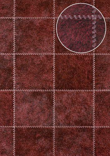 Präge Tapete Atlas SKI-5067-5 Vliestapete geprägt in Felloptik schimmernd rot purpur-rot schwarz-rot perl-beige 7,035 m2 – Bild 1