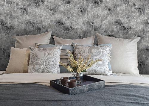 Papier peint motif animal Atlas STI-5100-5 papier peint intissé gaufré avec des motifs de serpent satiné platine gris-argent anthracite 7,035 m2 – Bild 4