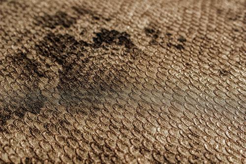 Tiermotiv Tapete Atlas STI-5100-6 Vliestapete geprägt mit Schlangenmuster schimmernd braun blass-braun sepia-braun 7,035 m2 – Bild 2