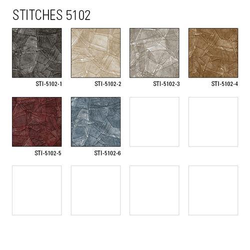 Papier peint gaufré Atlas STI-5102-3 papier peint intissé gaufré d'aspect de cuir satiné argent gris-clair-nacré aluminium blanc 7,035 m2 – Bild 5