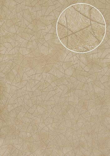 Carta da parati grafica Atlas STI-5106-2 Carta da parati TNT goffrata con aspetto pelliccia scintillante beige avorio-chiaro cappuccino beige-perlato 7,035 m2 – Bild 1
