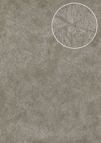 Grafik Tapete Atlas STI-5106-3 Vliestapete geprägt in Felloptik schimmernd silber perl-hell-grau stein-grau platin-grau 7,035 m2 – Bild 1