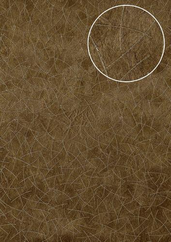 Grafisch behang Atlas STI-5106-5 vliesbehang gestempeld in vacht optiek glanzend bruin bleekbruin olijfbruin parelmoer-grijs 7,035 m2 – Bild 1