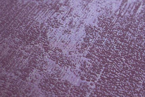 Uni kleuren behang Atlas TEM-5112-6 vliesbehang gestructureerd in spachtelputz look glanzend rood bordeauxpaars purperrood 7,035 m2 – Bild 3