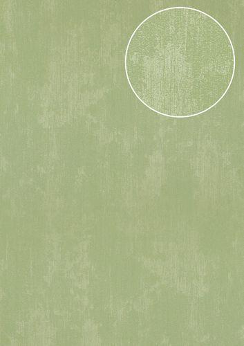 Uni kleuren behang Atlas TEM-5112-9 vliesbehang gestructureerd in spachtelputz look glanzend groen bleekgroen witgroen 7,035 m2 – Bild 1