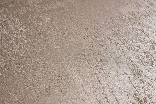 Uni Tapete Atlas TEM-5113-2 Vliestapete glatt in Spachteloptik und Metallic Effekt beige cappuccino grau-beige perl-beige 7,035 m2 – Bild 2